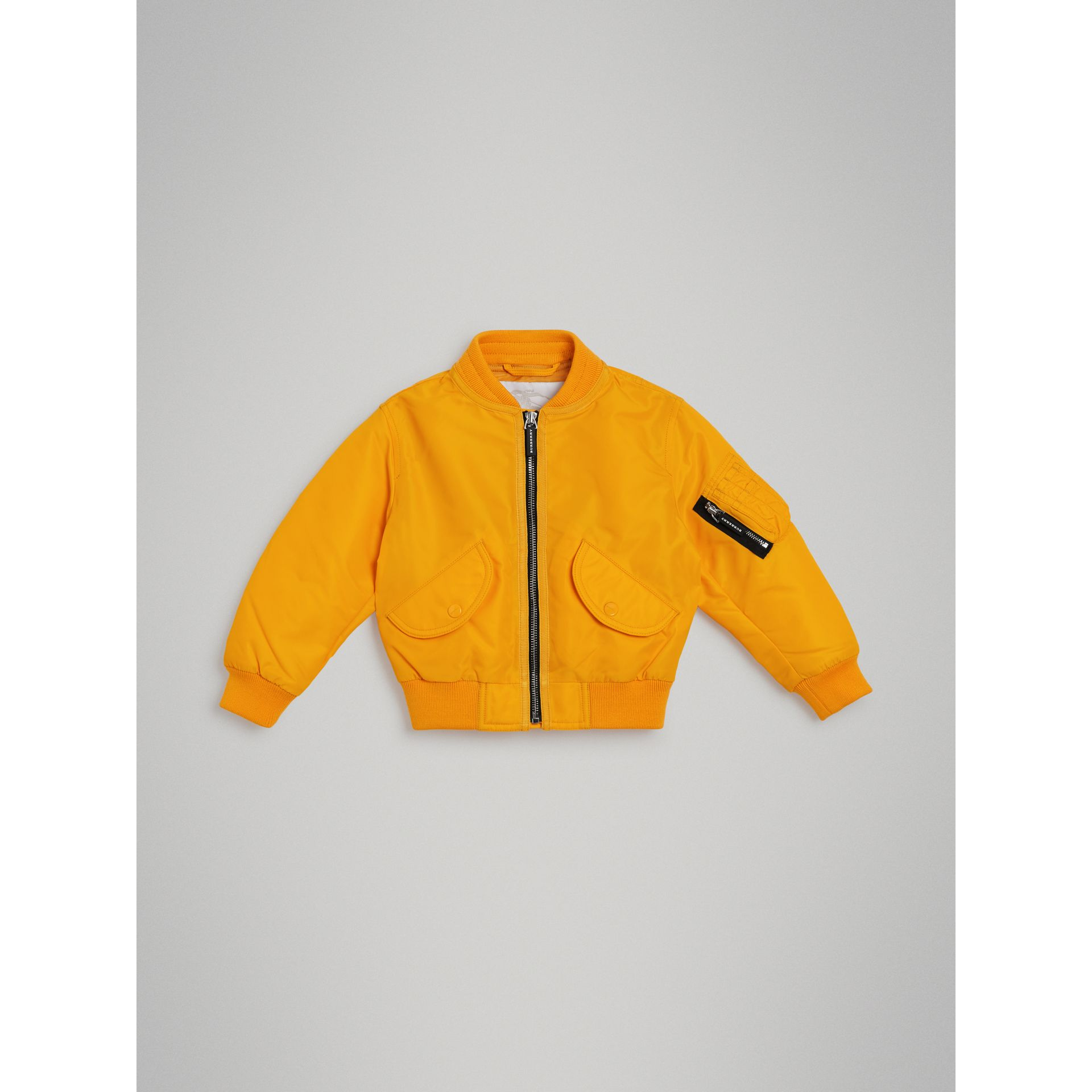 Lightweight Nylon Bomber Jacket in Bright Yellow - Children | Burberry - gallery image 0