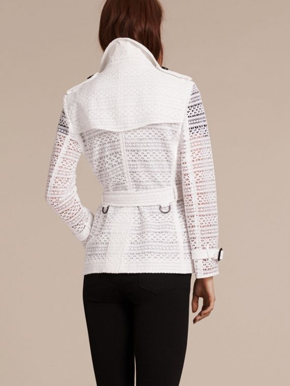 White English Lace Trench Jacket - cell image 2