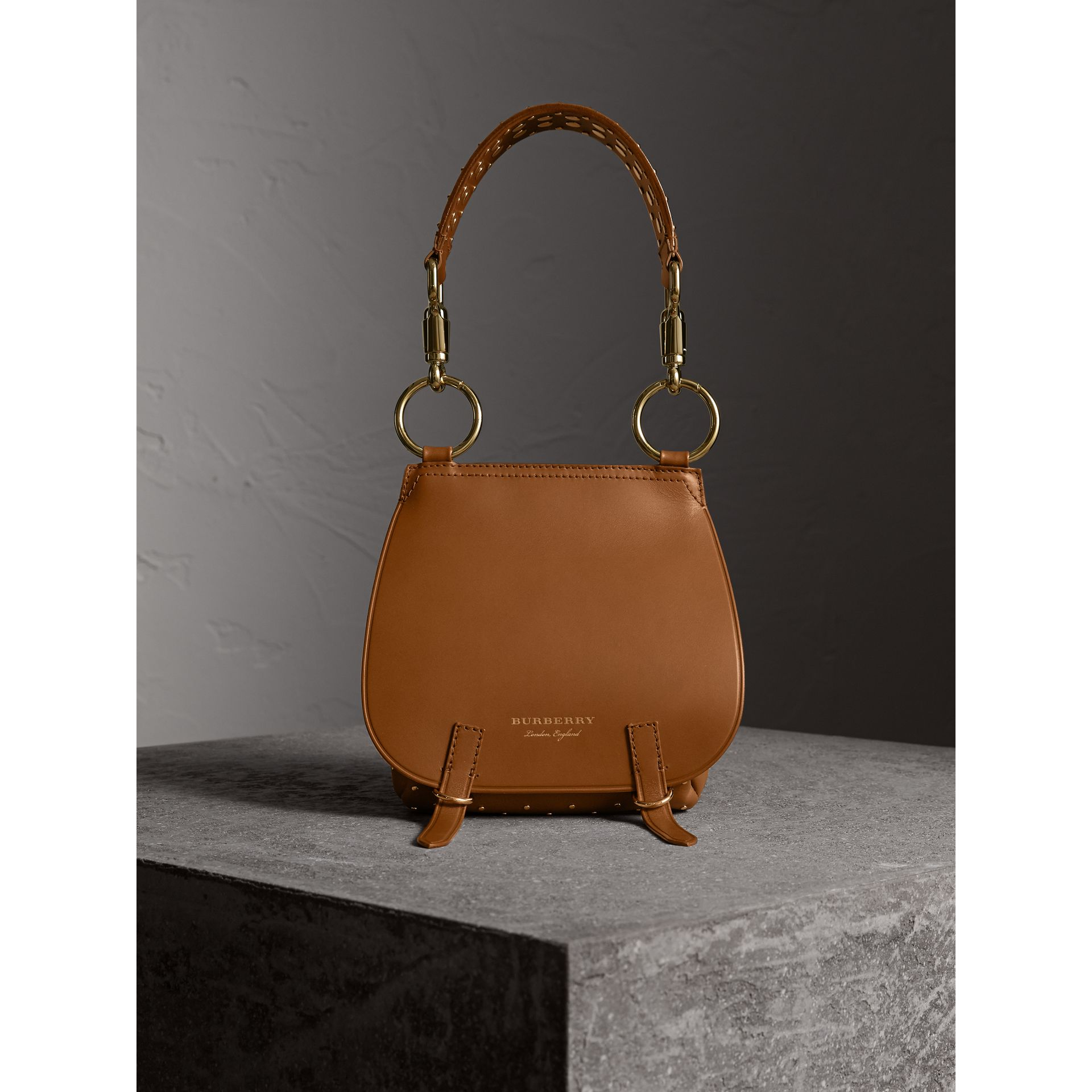 The Bridle Bag in Leather and Rivets in Tan - gallery image 8
