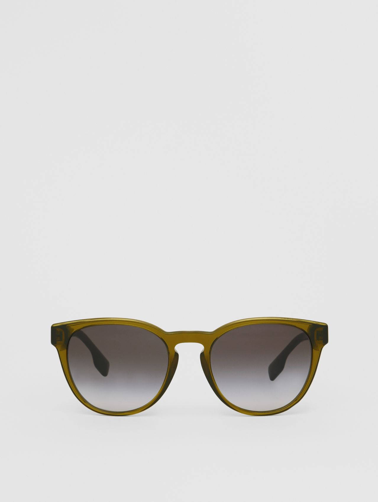Round Frame Sunglasses in Olive
