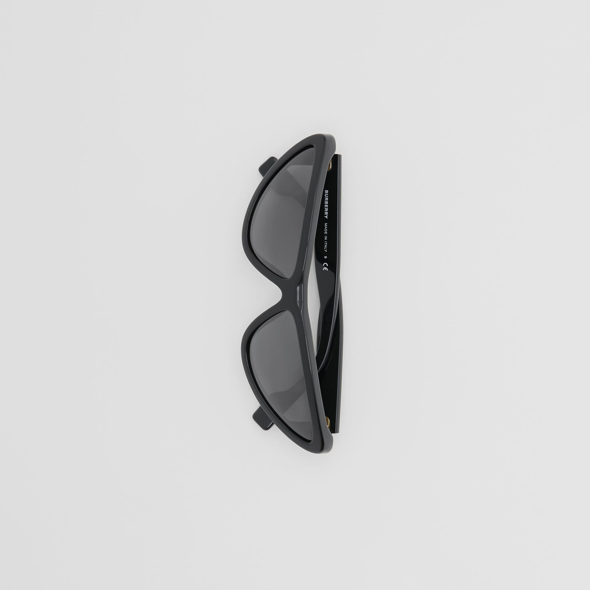 Triangular Frame Sunglasses in Black - Women | Burberry Australia - gallery image 3