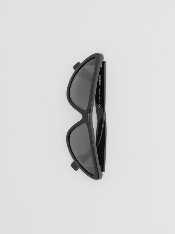 Triangular Frame Sunglasses in Black - Women | Burberry Australia - cell image 3