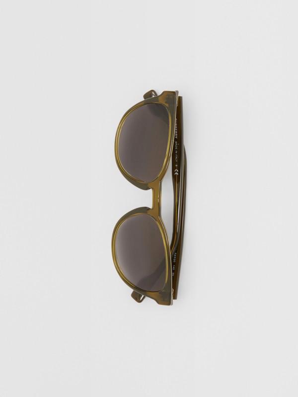 Round Frame Sunglasses in Olive - Men | Burberry Australia - cell image 2