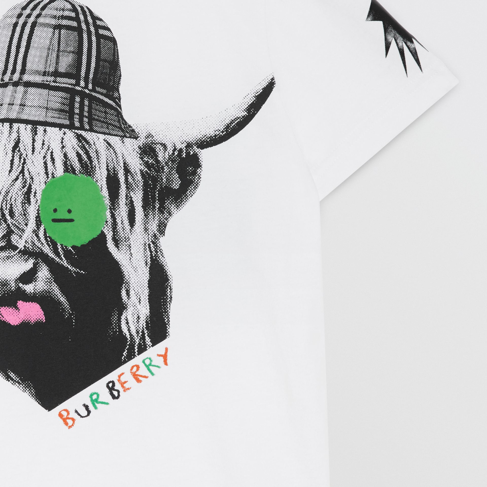 T-shirt en coton avec imprimé vache des Highlands (Blanc) | Burberry - photo de la galerie 4