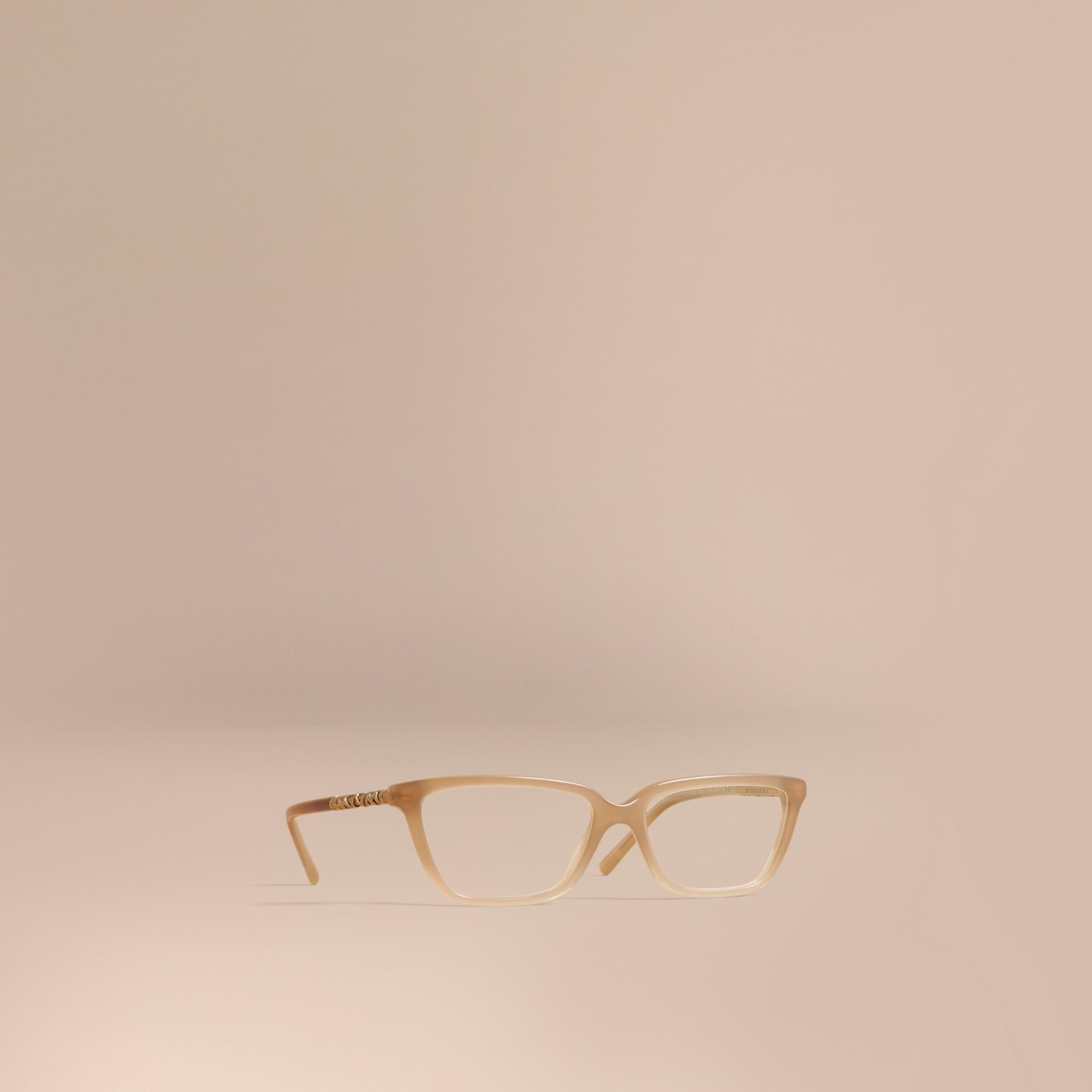 Check Detail Rectangular Cat-eye Optical Frames - gallery image 1