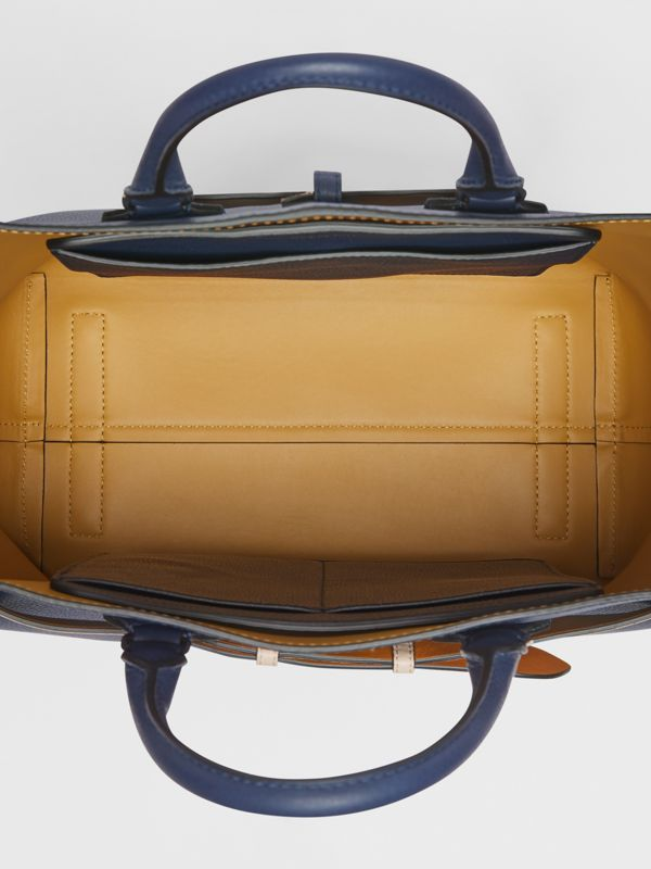 The Large Leather Belt Bag in Regency Blue - Women | Burberry - cell image 3