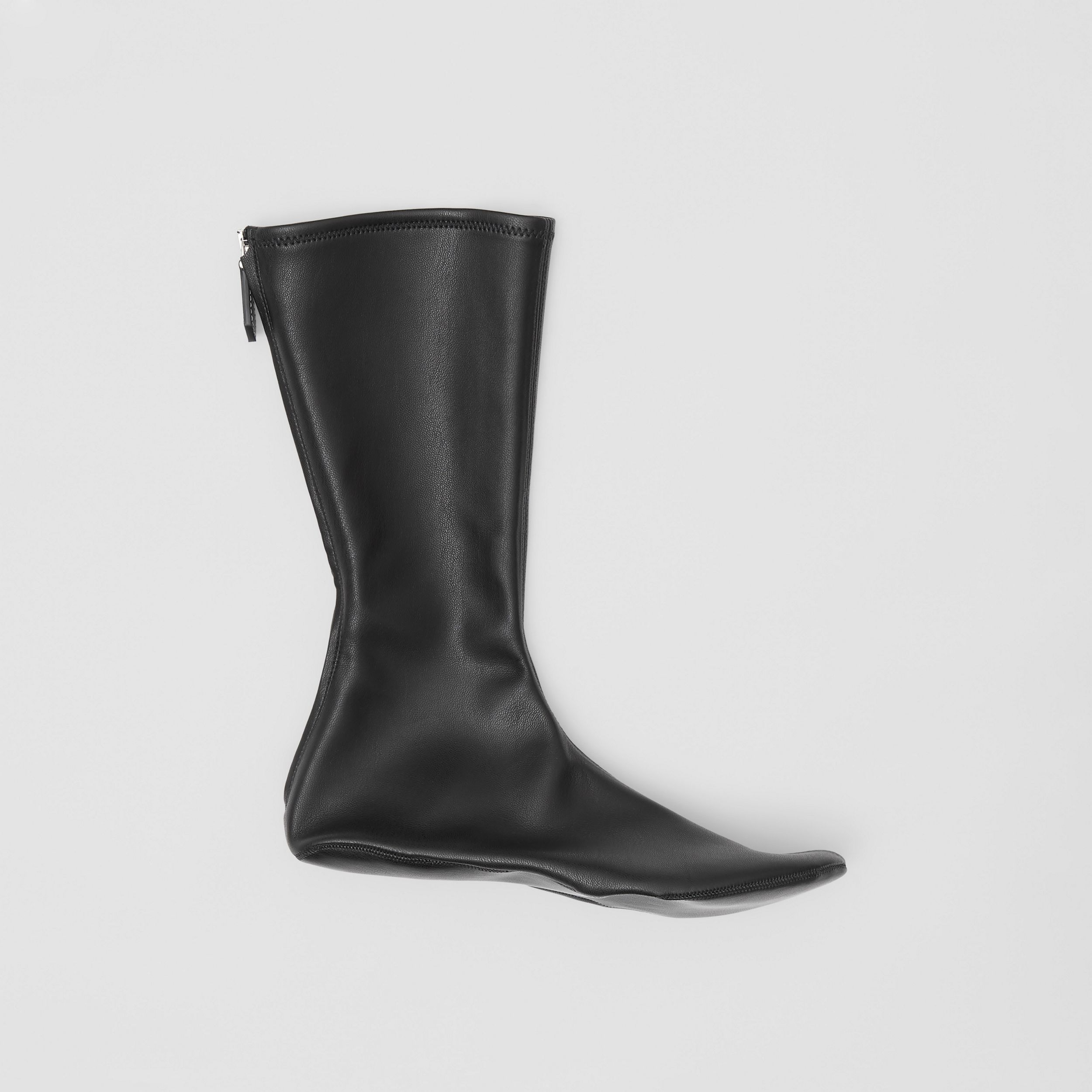 Faux Leather Mid-calf Socks in Black - Women | Burberry United Kingdom - 1