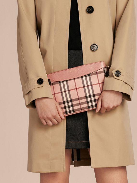 Horseferry Check and Leather Clutch Bag - cell image 3