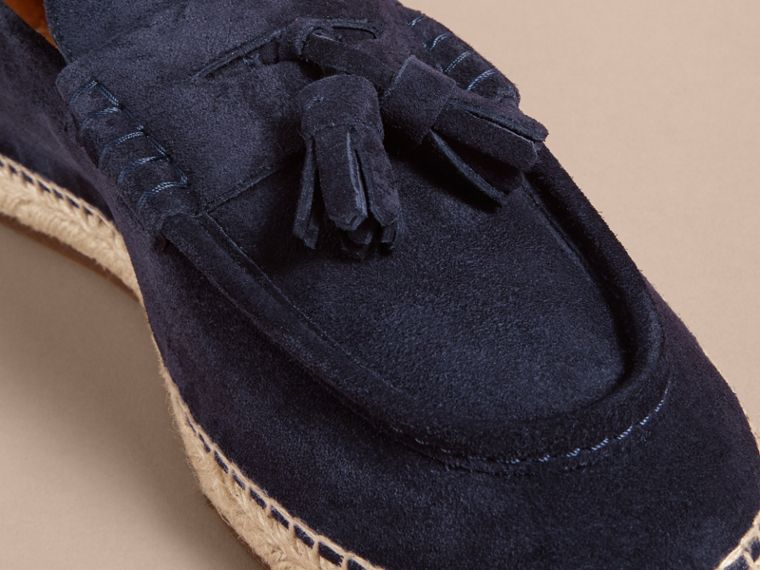 Tasselled Suede Espadrille Loafers Midnight Blue - cell image 1