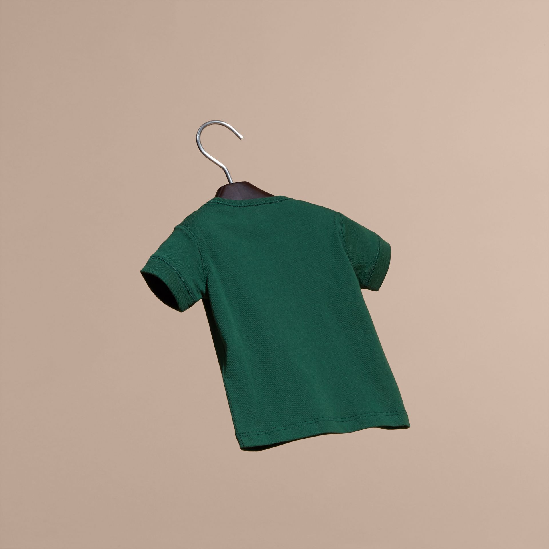 Forest green Check Pocket T-Shirt Forest Green - gallery image 4