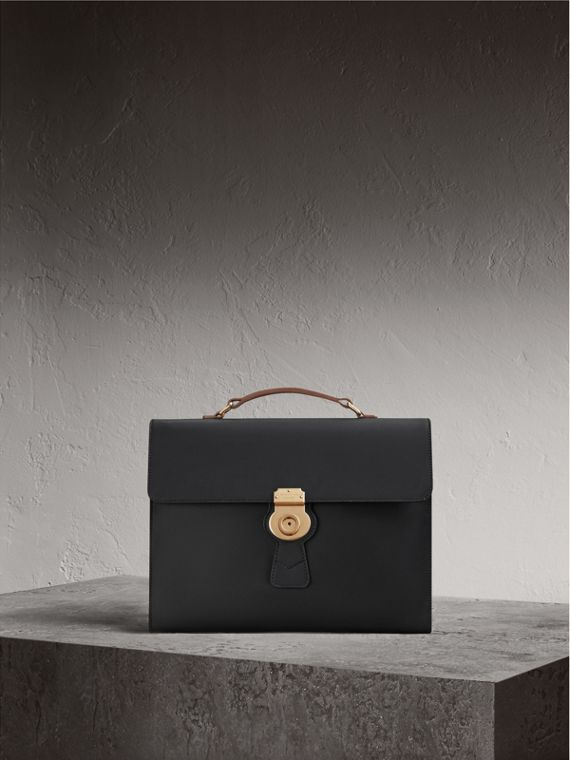The Large DK88 Document Case in Black - Men | Burberry