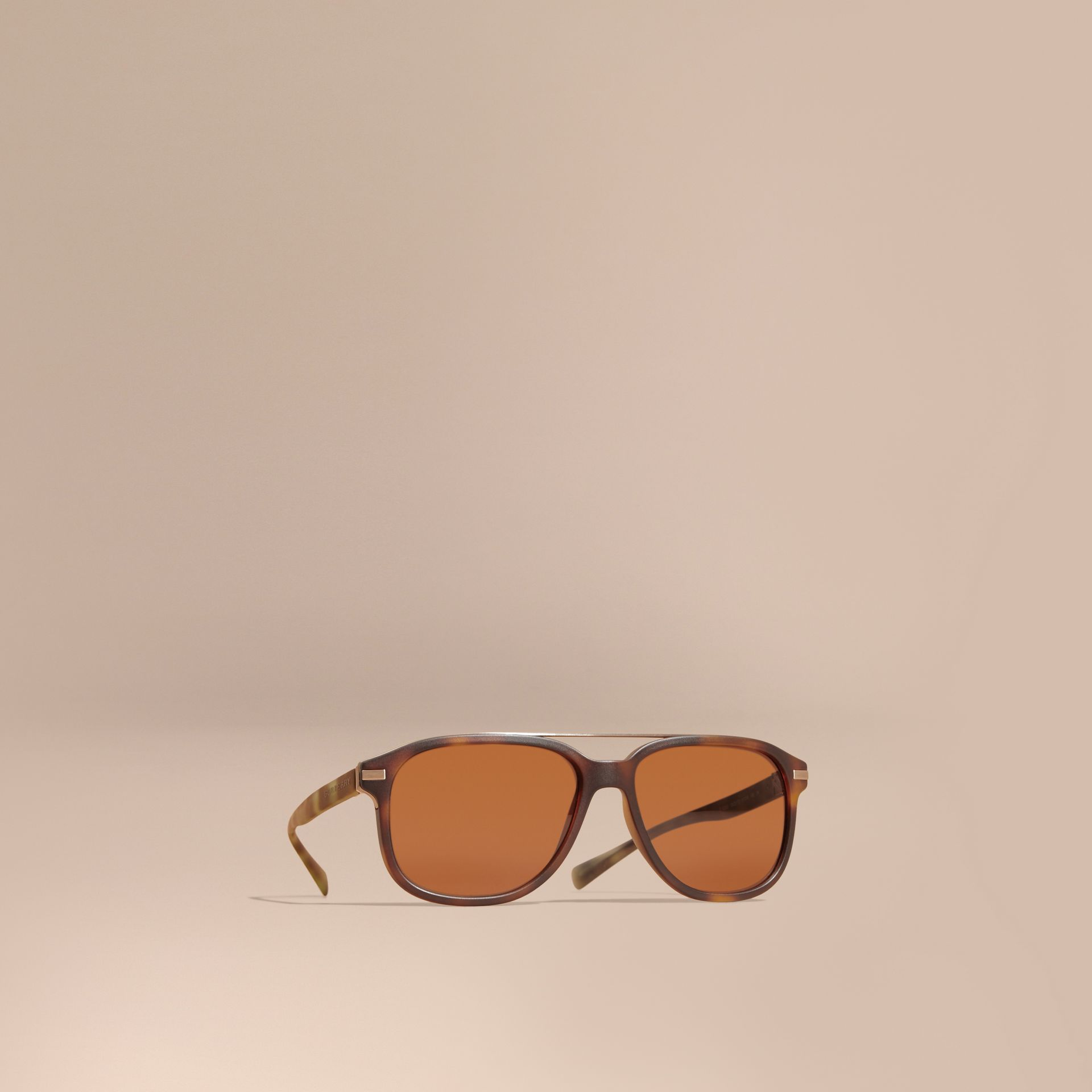 Square Frame Sunglasses in Tortoise Shell - gallery image 1
