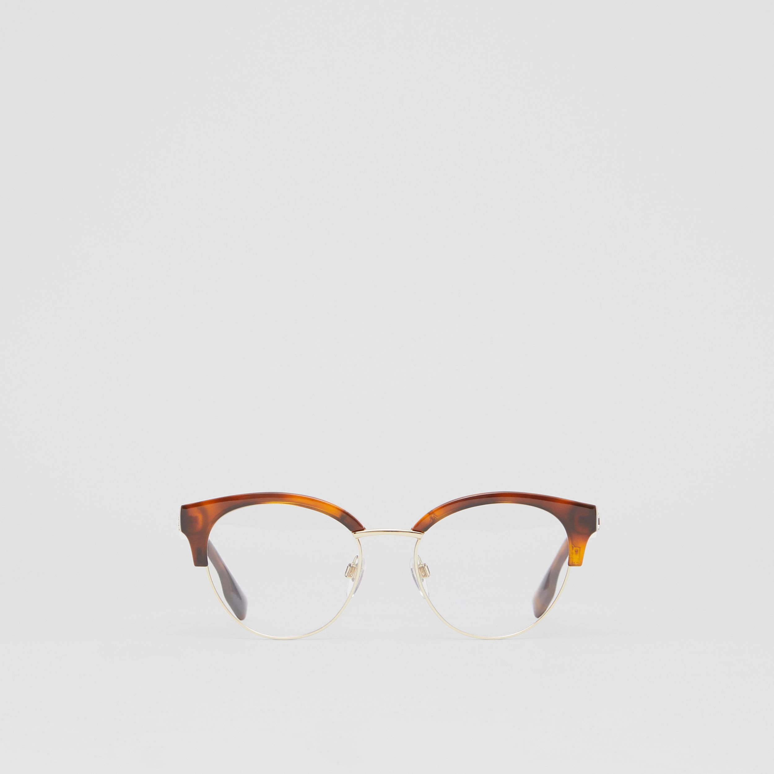 Cat-eye Optical Frames in Tortoise Amber - Women | Burberry - 1