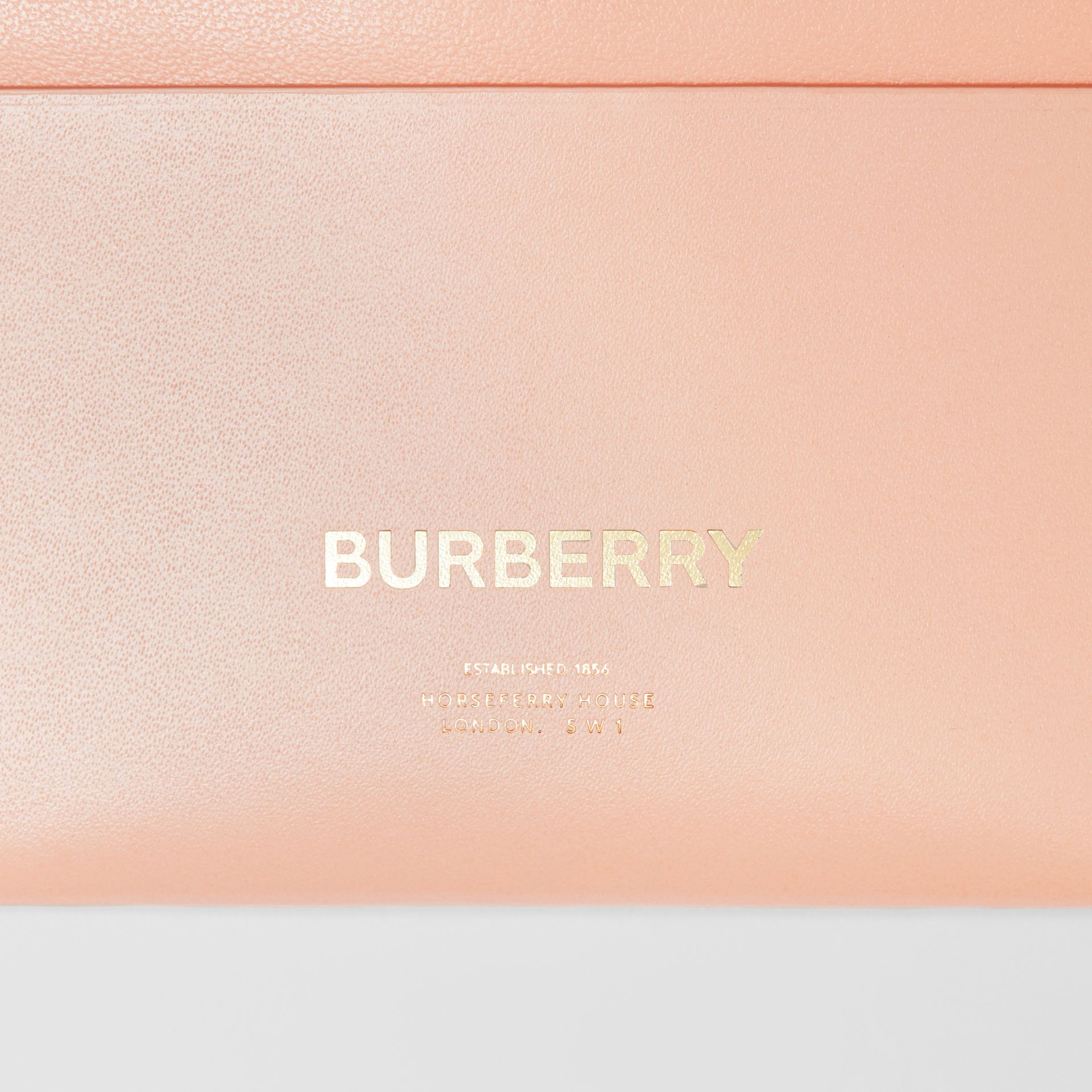 Horseferry Print Leather Card Case in Blush Pink - Women | Burberry - gallery image 1