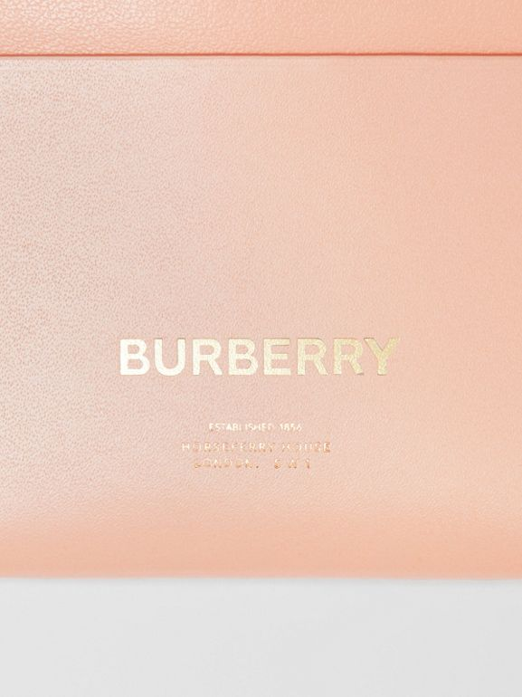 Horseferry Print Leather Card Case in Blush Pink - Women | Burberry - cell image 1