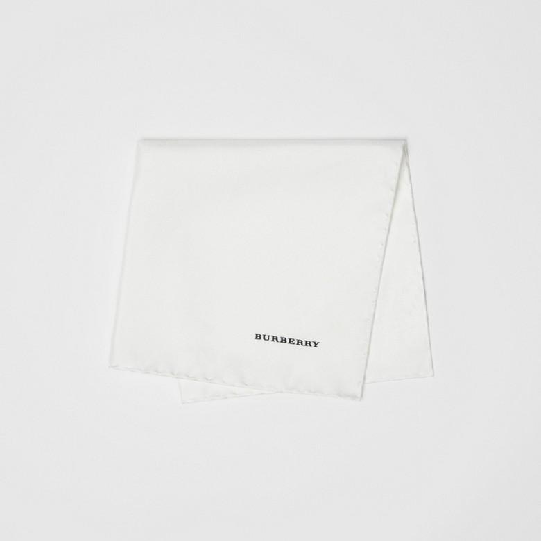 Burberry - Pañuelo cuadrado de bolsillo en seda - 4