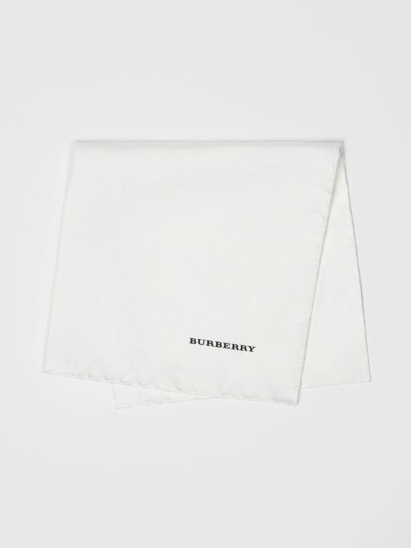 Silk Pocket Square in White - Men | Burberry - cell image 3