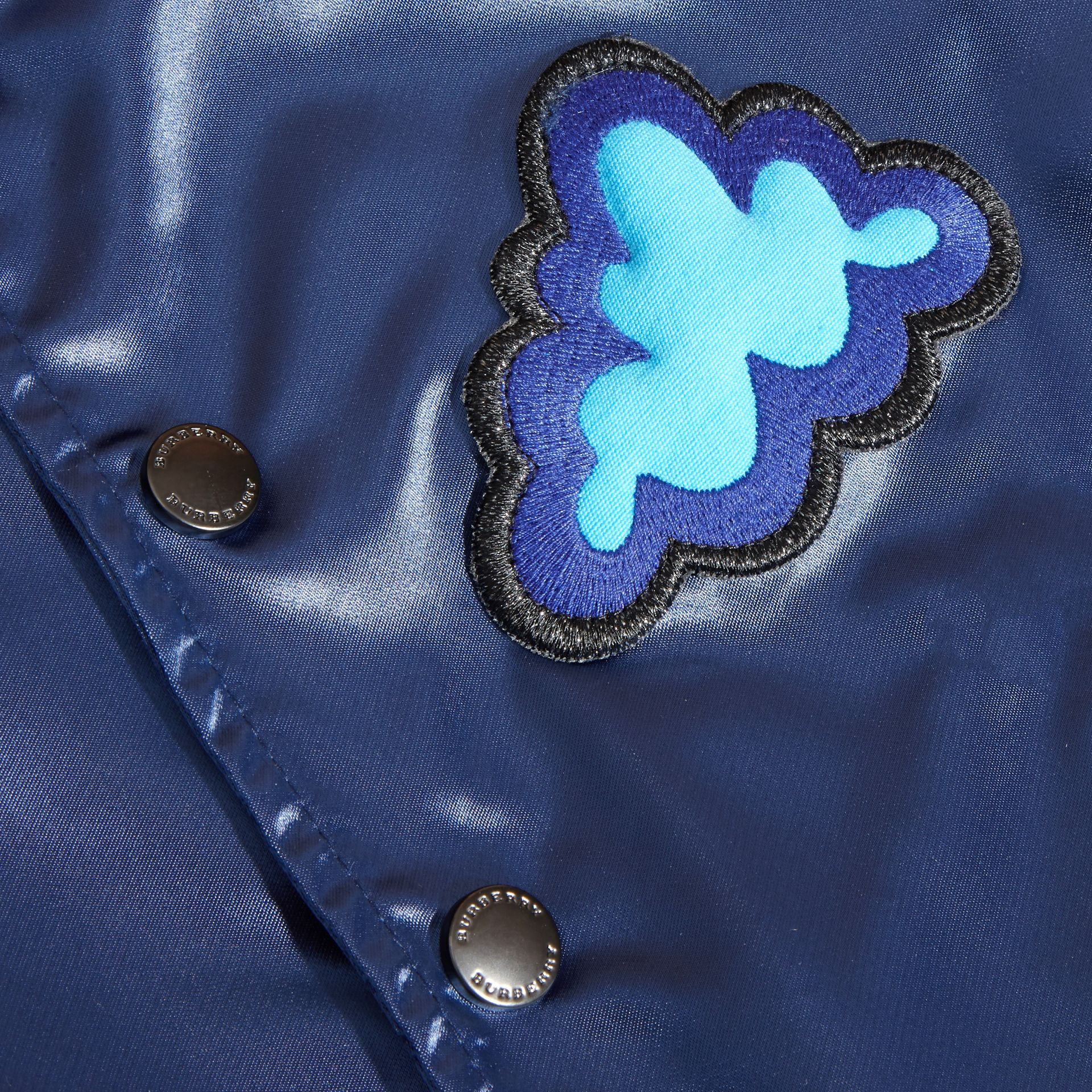 Weather Appliqué Satin Bomber Jacket - gallery image 2