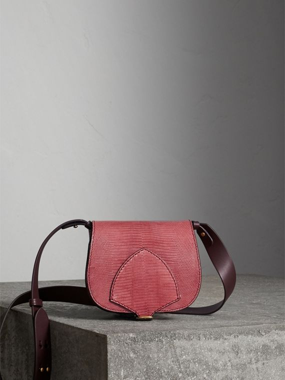 The Satchel in Lizard in Pink Azalea