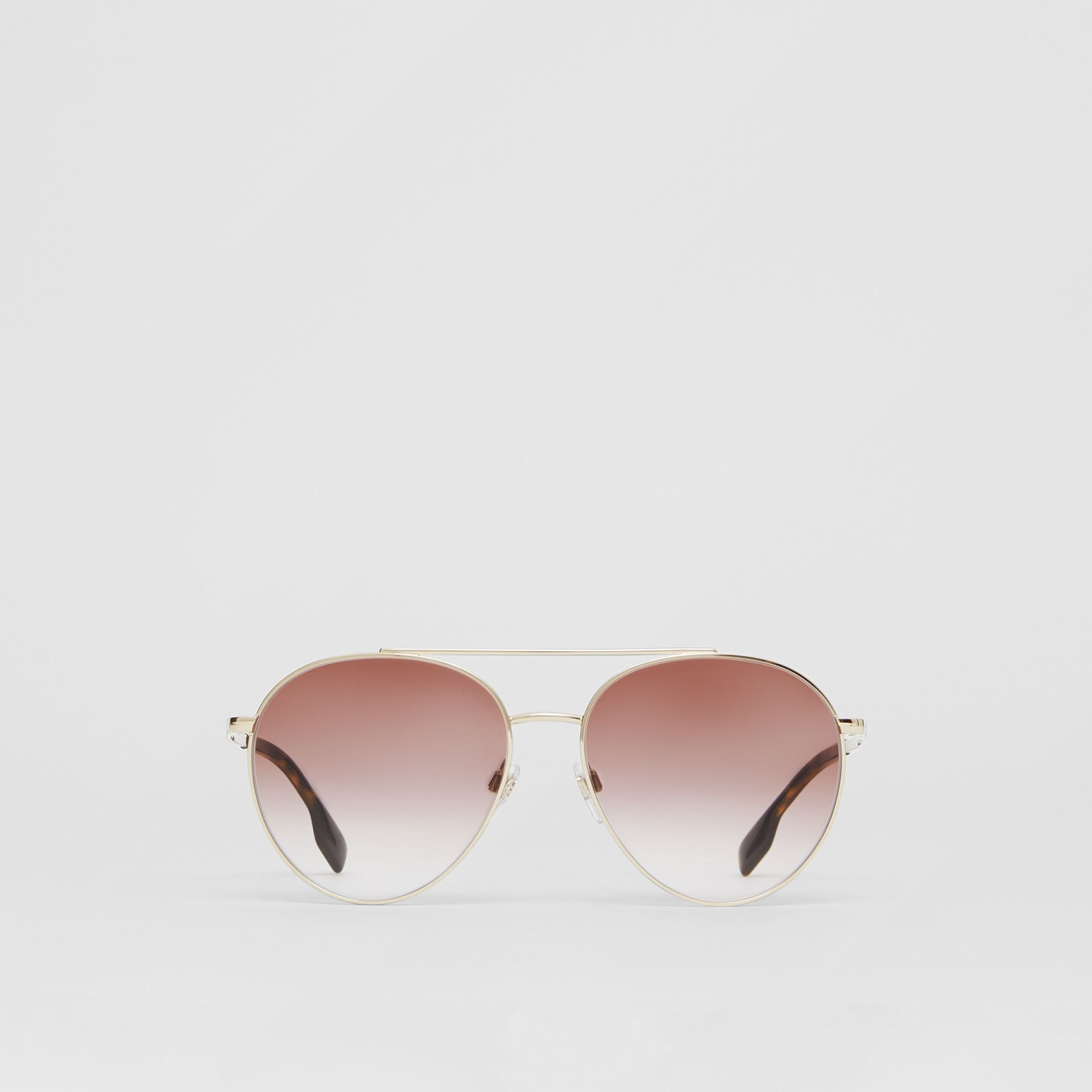 Pilot Sunglasses in Light Pink - Women | Burberry United Kingdom - gallery image 0