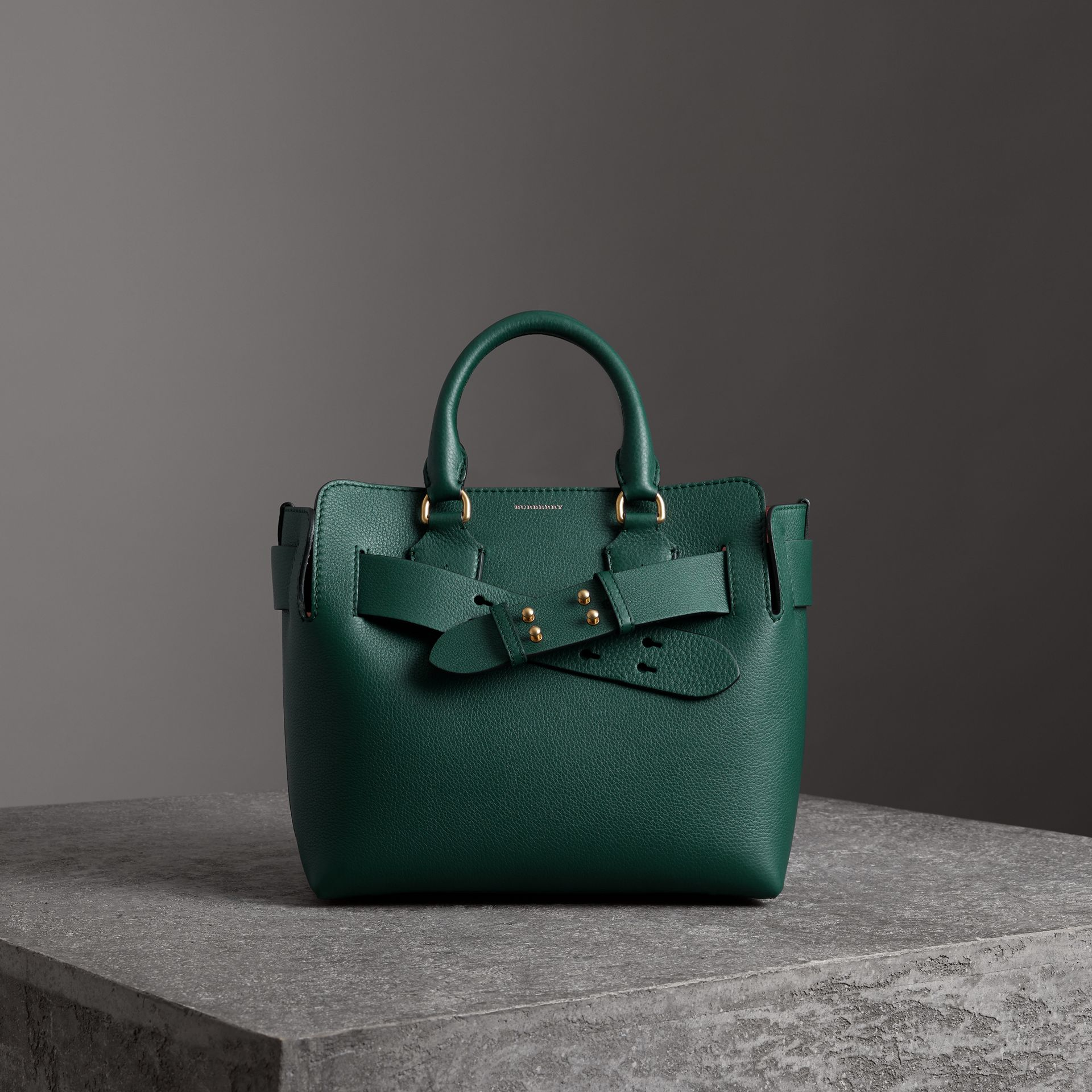 The Small Leather Belt Bag in Dark Cyan - Women | Burberry Australia - gallery image 0