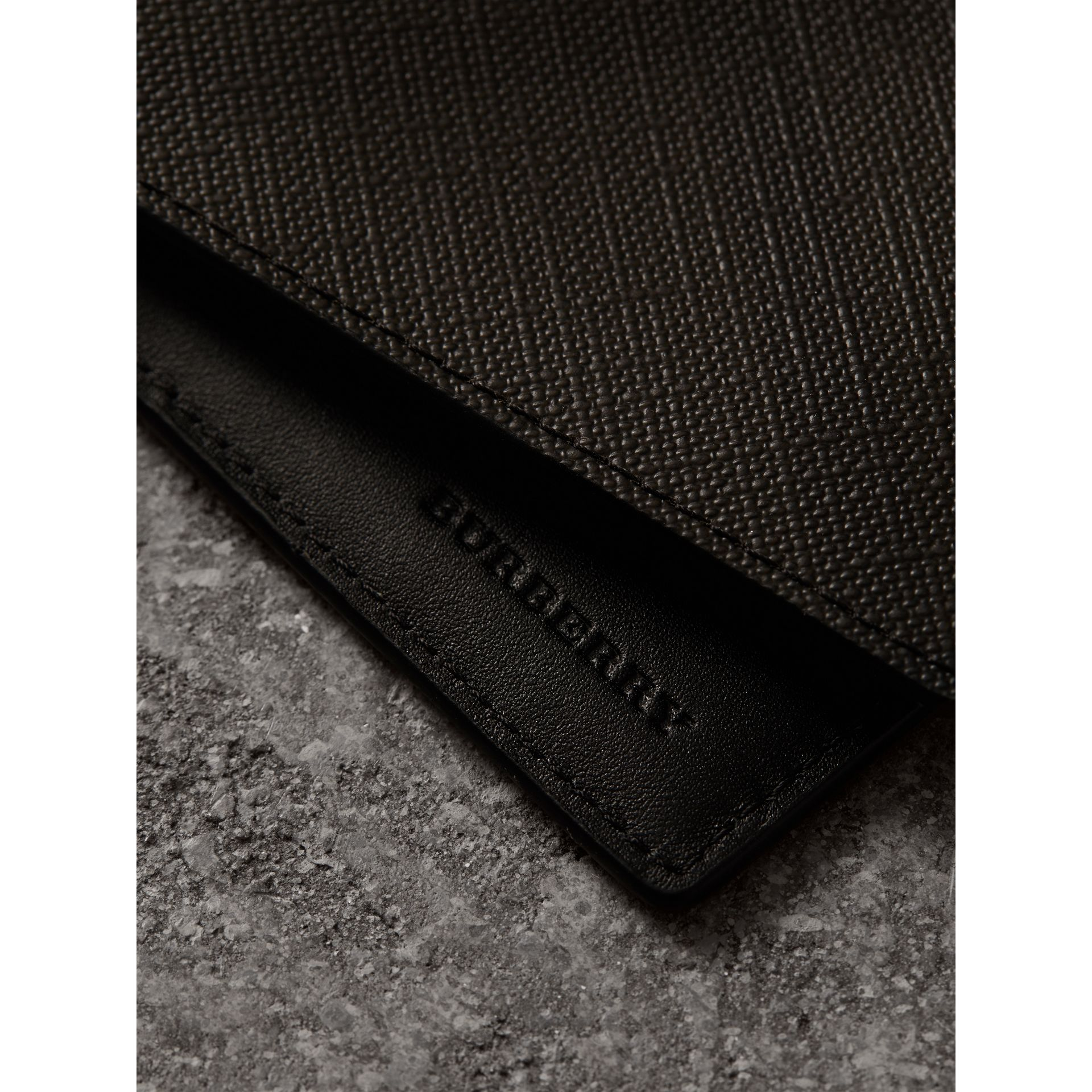 London Check International Bifold Wallet in Chocolate/black - Men | Burberry Singapore - gallery image 1