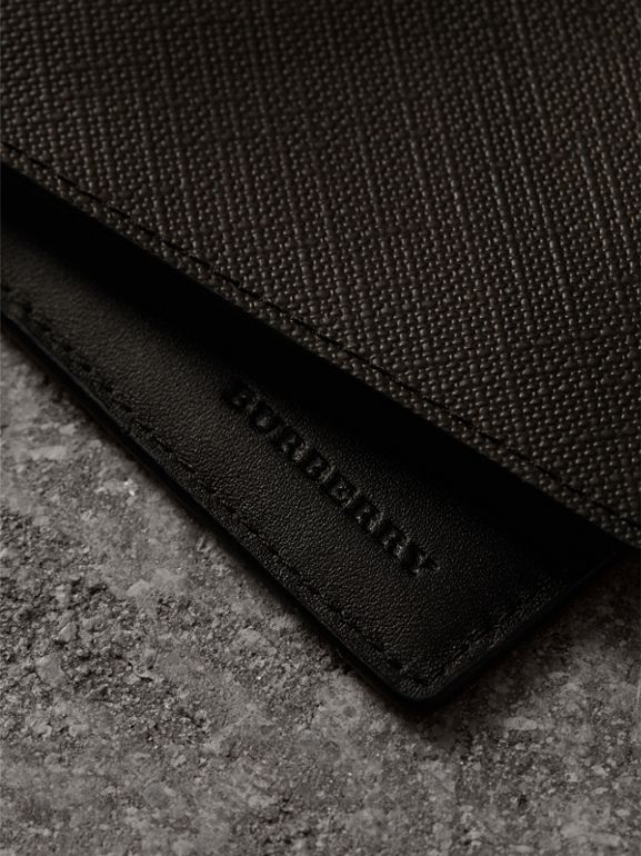 London Check International Bifold Wallet in Chocolate/black - Men | Burberry Hong Kong - cell image 1