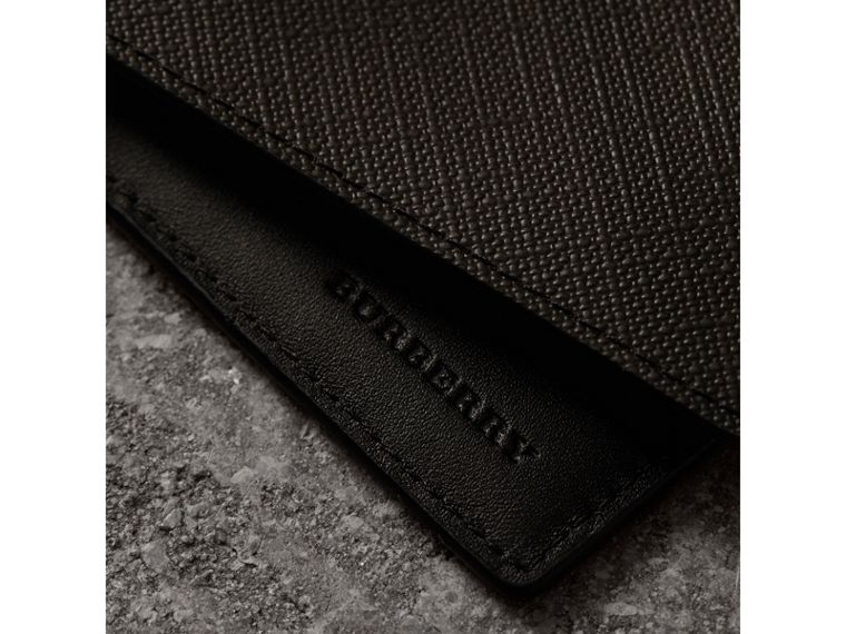 London Check International Bifold Wallet in Chocolate/black - Men | Burberry Canada - cell image 1