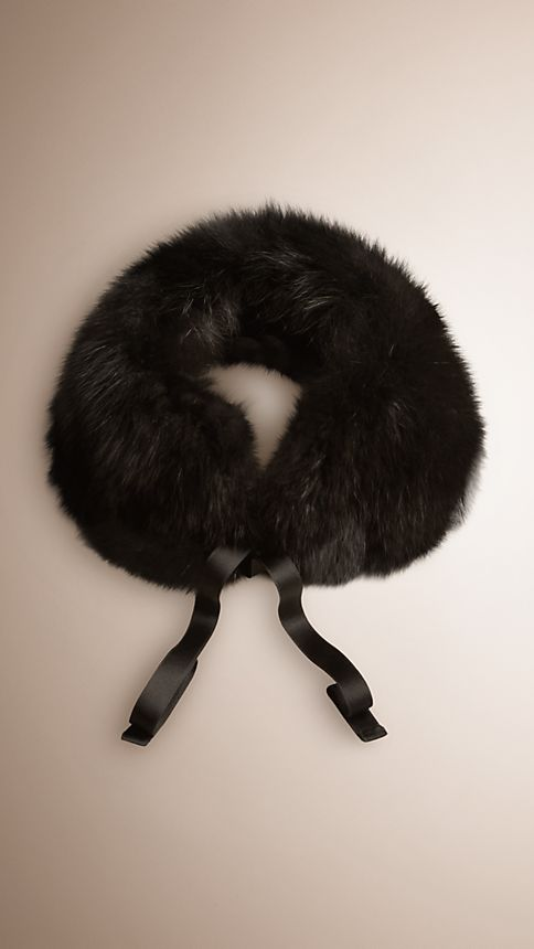 Black Fox Fur Collar - Image 1