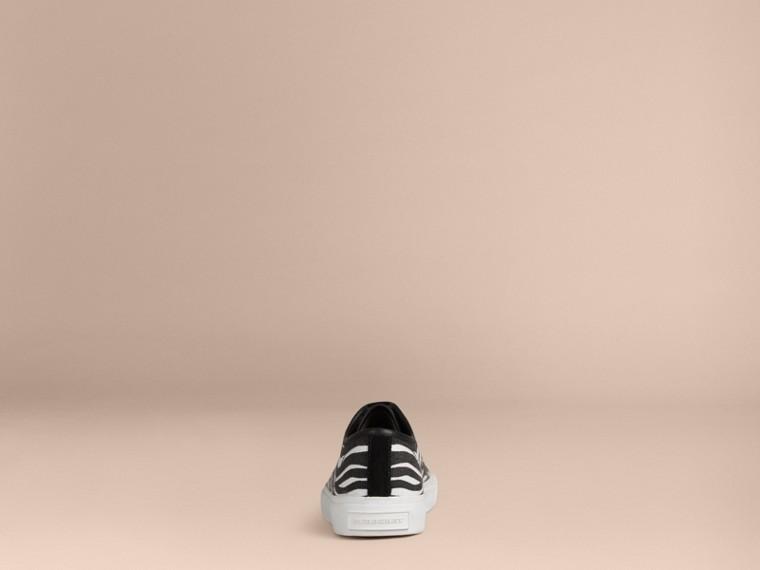 Nero/bianco Sneaker in tela con stampa zebrata - cell image 1
