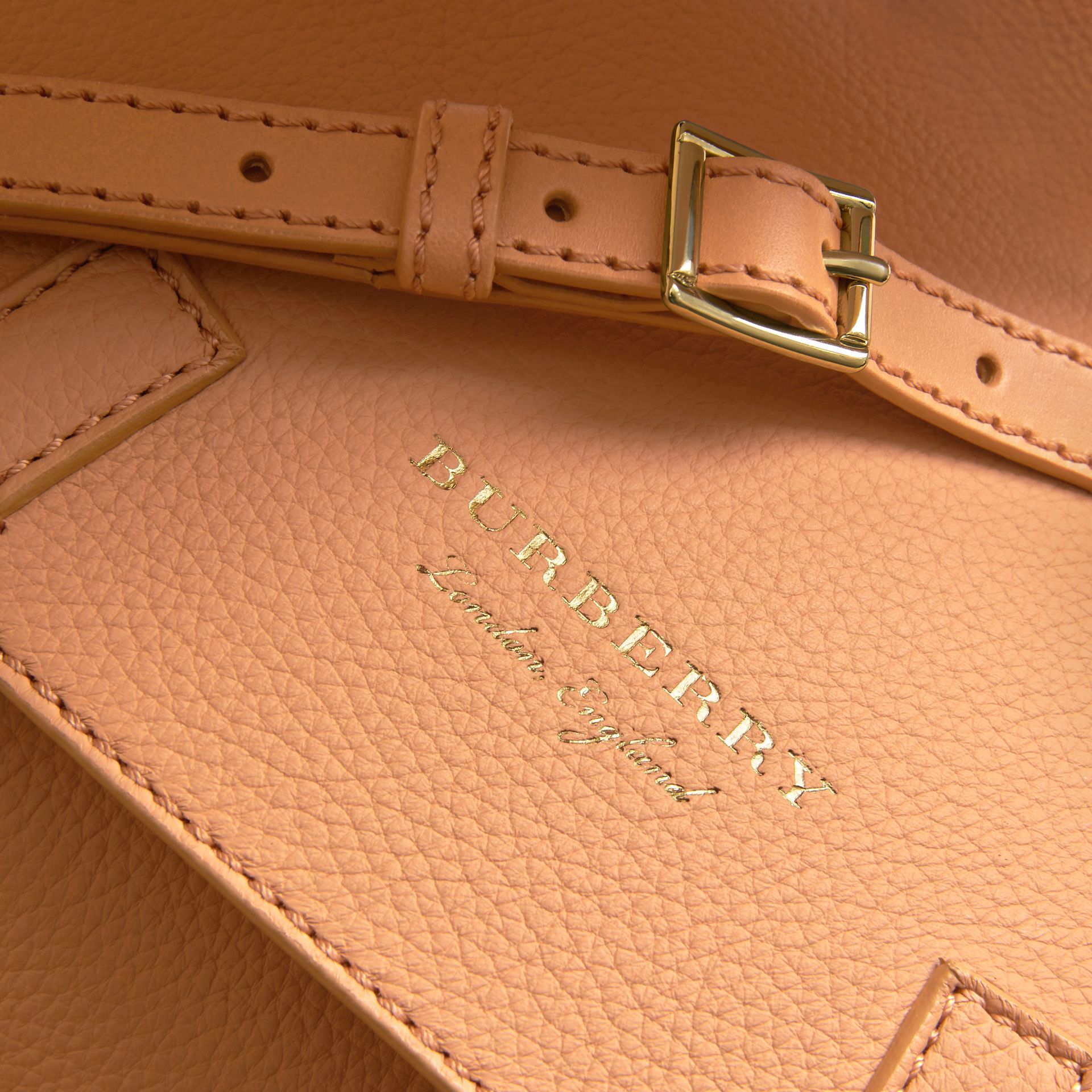 The Bridle Bag in Deerskin in Pale Clementine - Women | Burberry - gallery image 2