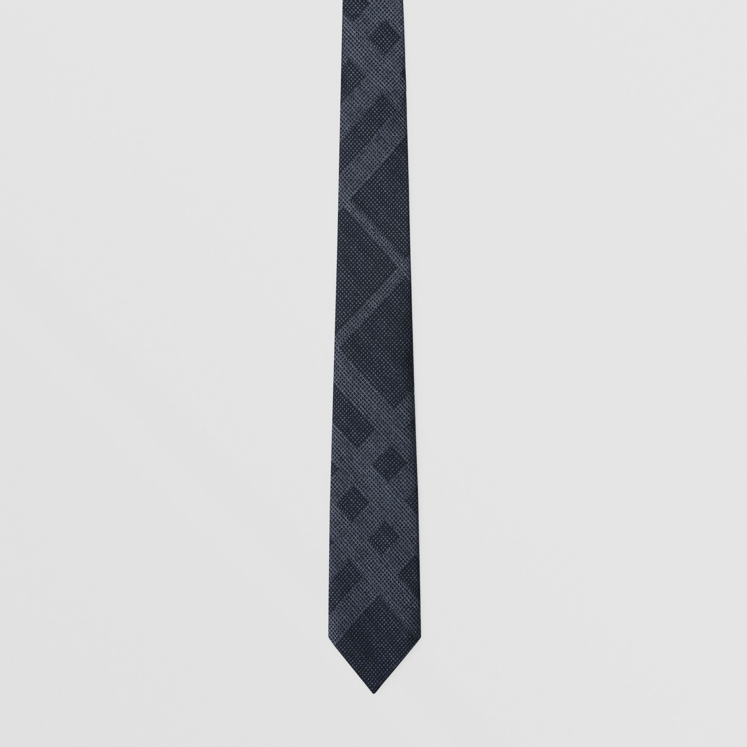 Classic Cut Check Silk Tie in Navy Melange - Men | Burberry - 4