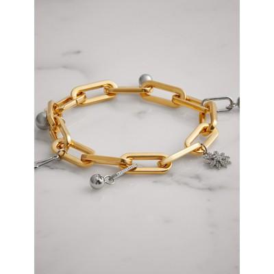Burberry Crystal Charm Gold and Palladium-plated Bracelet UZla5F