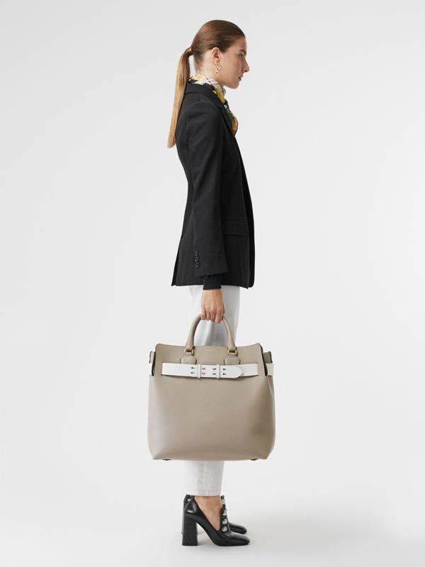 The Large Leather Belt Bag in Mineral Grey | Burberry - cell image 2