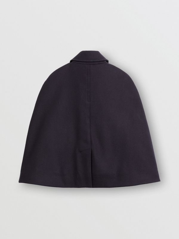 Wool Pea Coat Cape in Navy - Children | Burberry - cell image 3