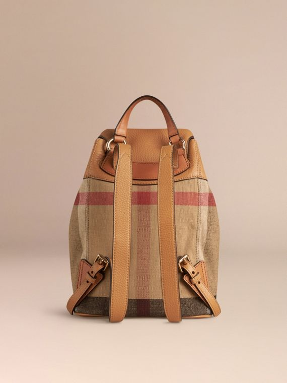Zaino con motivo Canvas check (Sabbia) | Burberry - cell image 3