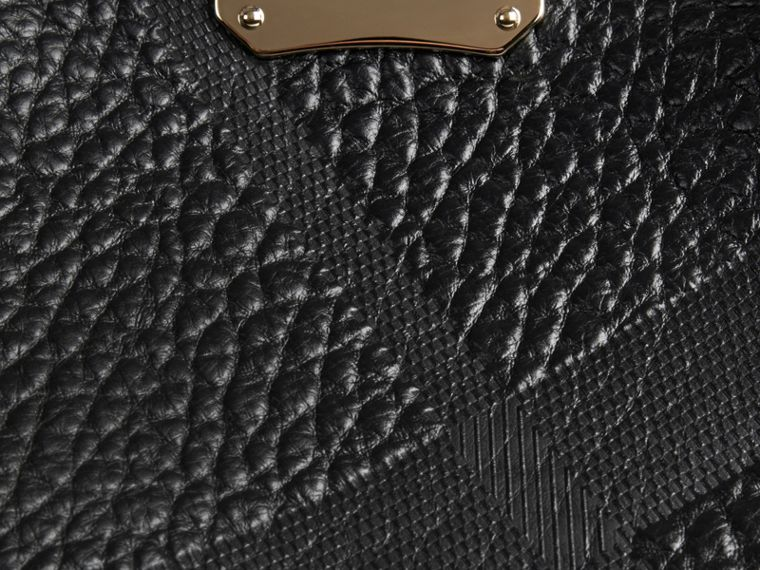 Black The Small Canter in Embossed Check Leather Black - cell image 4