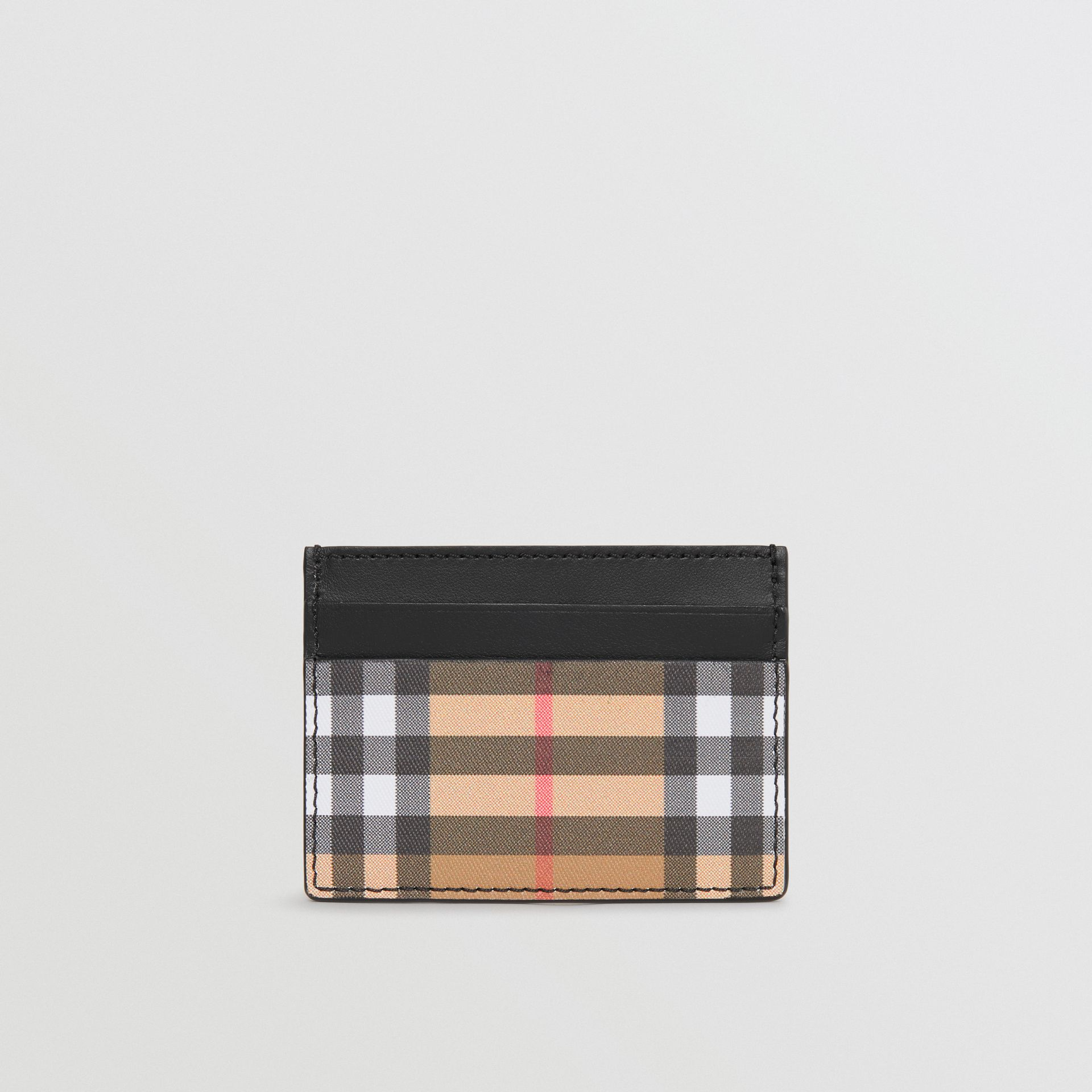 Vintage Check and Leather Card Case in Black | Burberry - gallery image 5
