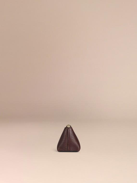 Rosso ebano Pochette piccola porta accessori digitali in pelle a grana Rosso Ebano - cell image 2