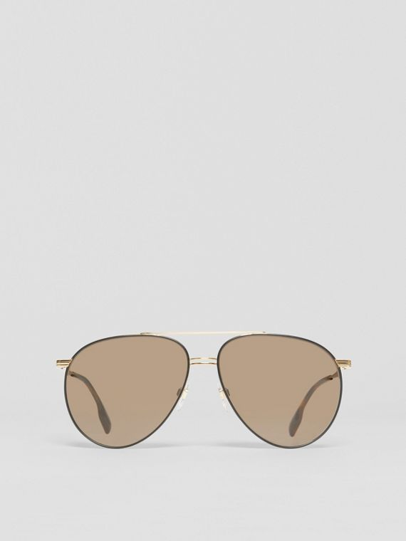 Top Bar Detail Pilot Sunglasses in Tortoiseshell