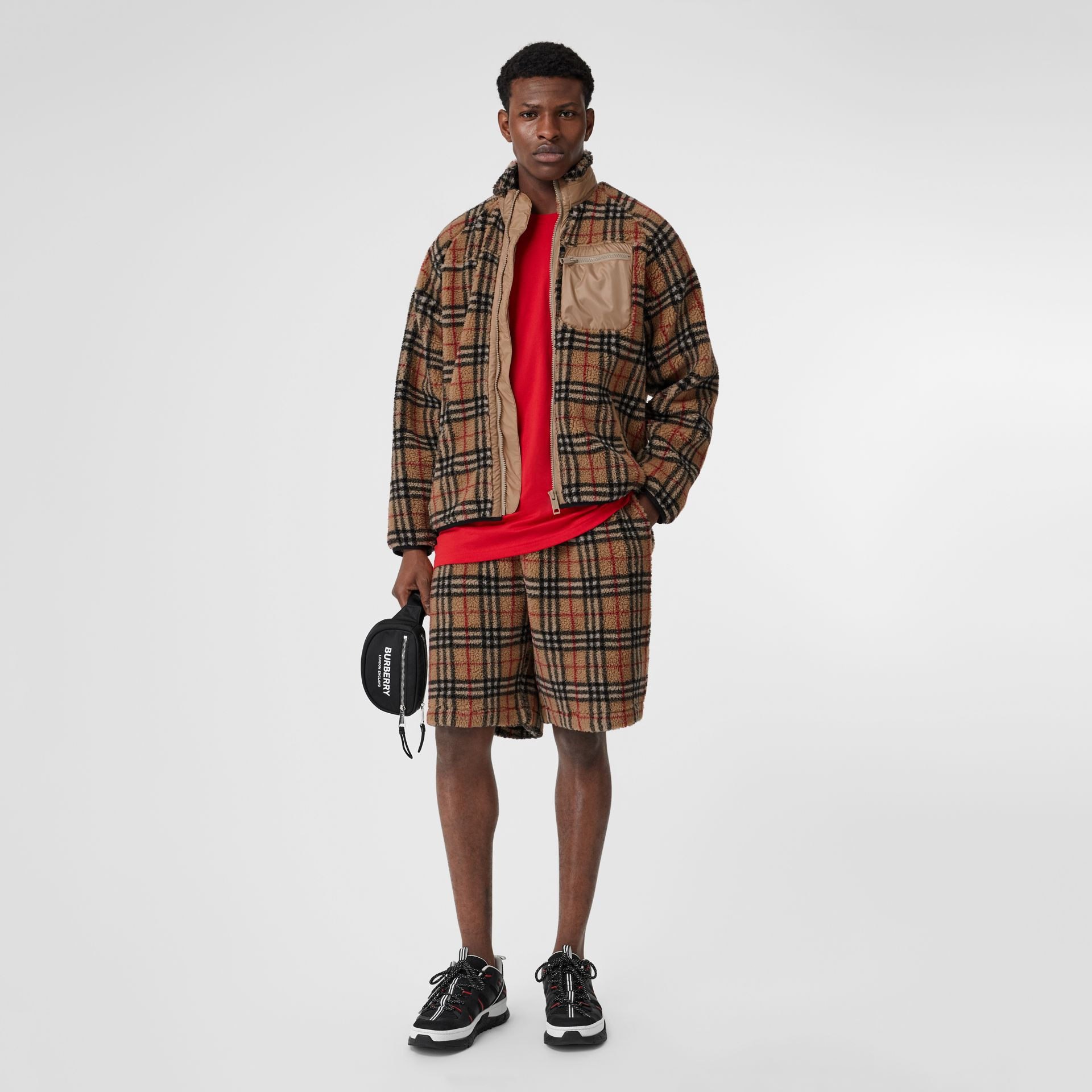 Vintage Check Fleece Jacket in Archive Beige - Men | Burberry - gallery image 0