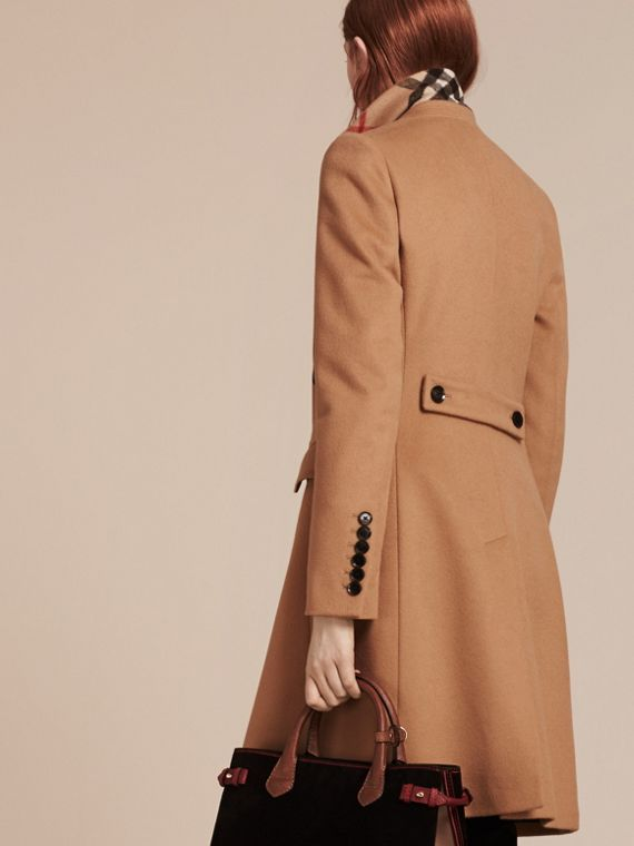 Wool Cashmere Tailored Coat in Camel - cell image 2