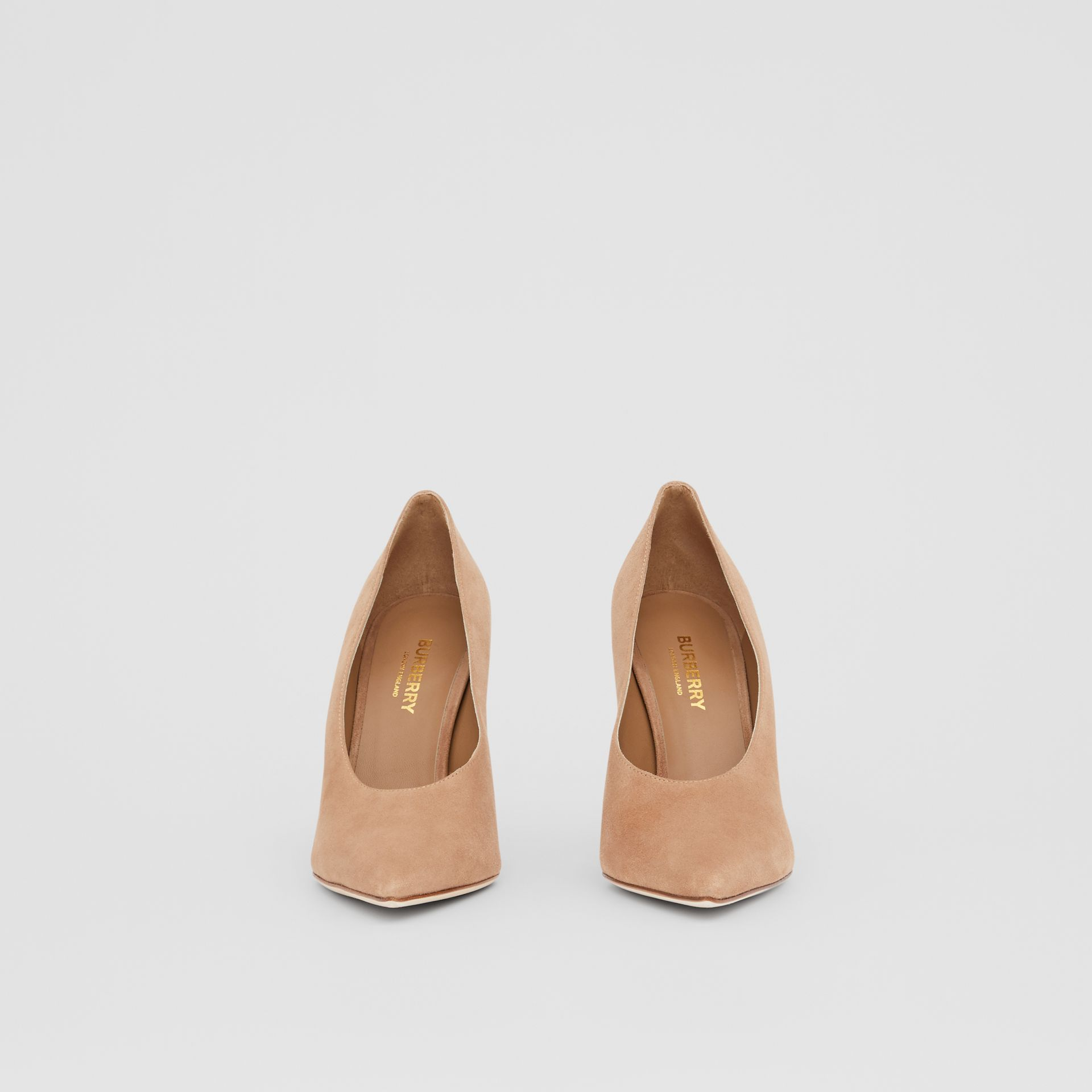 Suede Point-toe Pumps in Warm Camel - Women | Burberry - gallery image 2