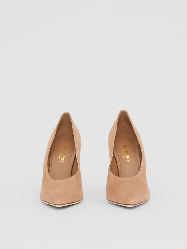 Suede Point-toe Pumps in Warm Camel - Women | Burberry United Kingdom - cell image 2