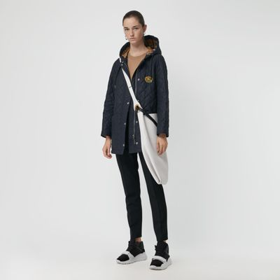 Lightweight Diamond Quilted Hooded Parka by Burberry