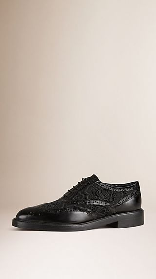 Leather and Lace Wingtip Brogues