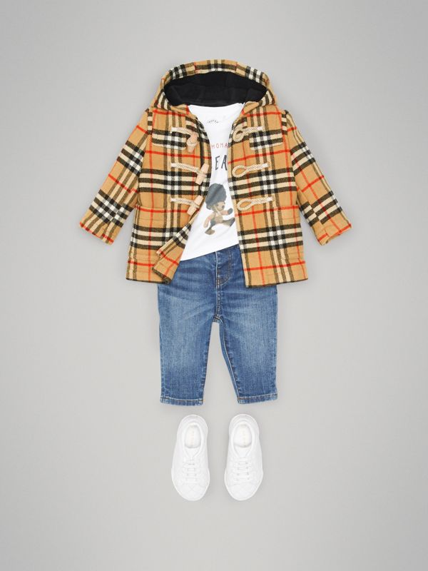 Vintage Check Wool Duffle Coat in Black - Children | Burberry United Kingdom - cell image 2
