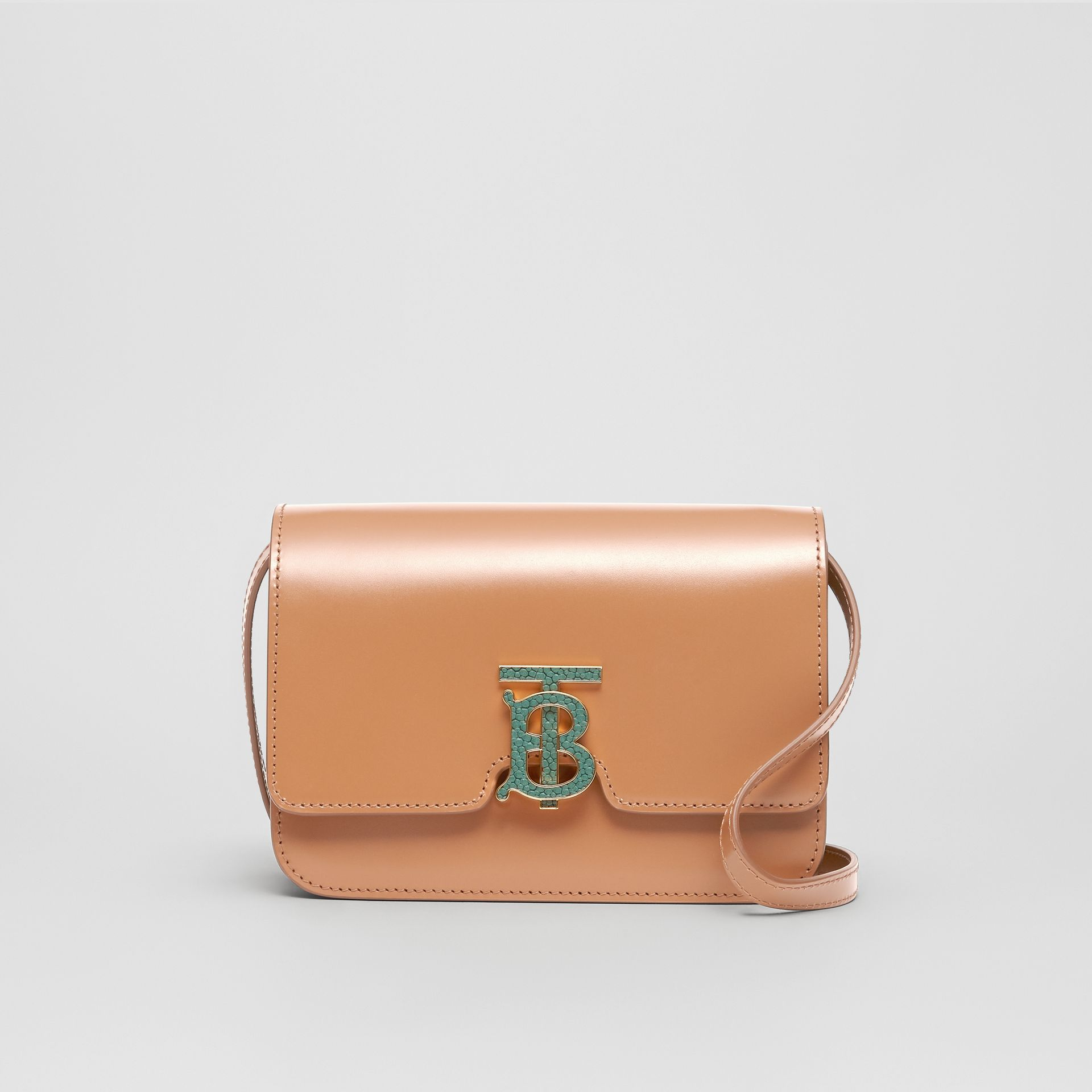 Small Leather TB Bag in Flaxseed - Women | Burberry - gallery image 0