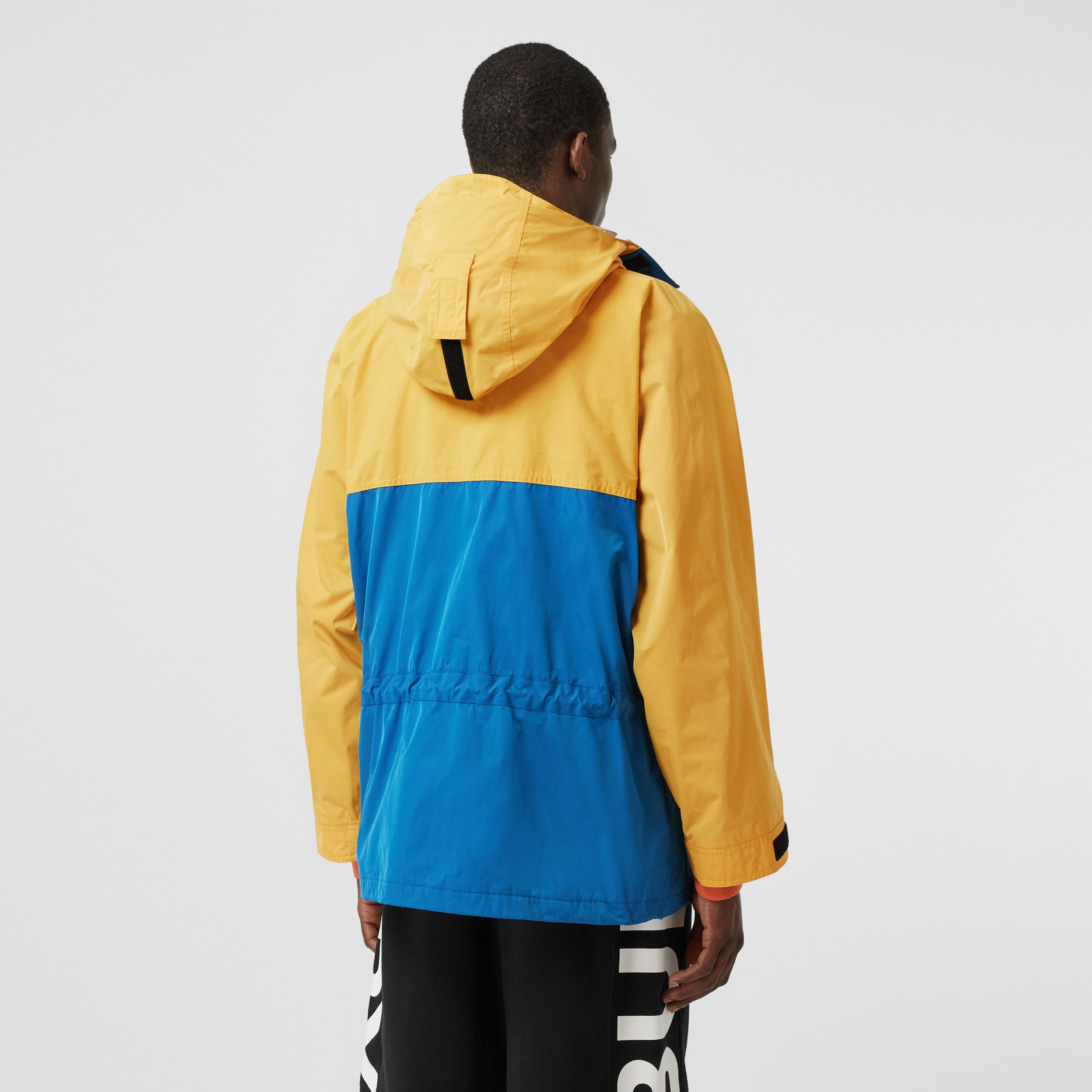 Globe Graphic Colour Block Technical Twill Jacket in Regency Blue - Men | Burberry - 3