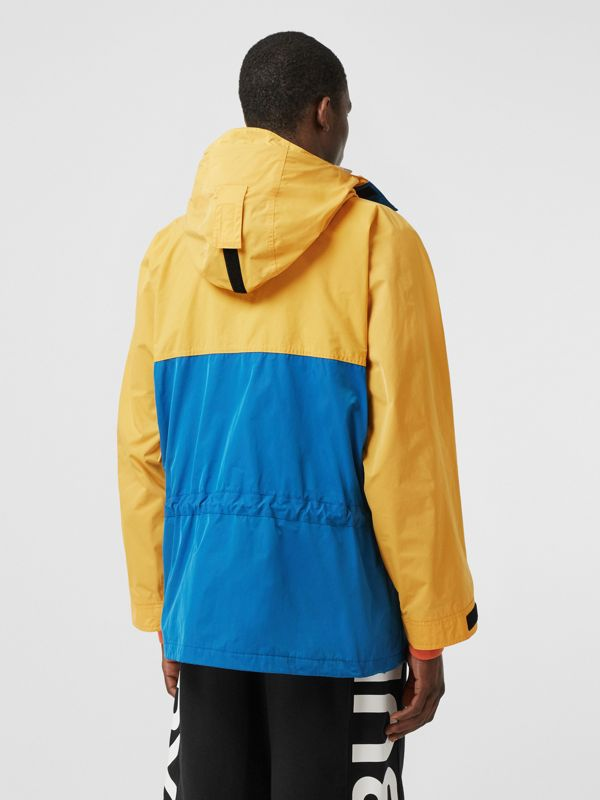 Globe Graphic Colour Block Technical Twill Jacket in Regency Blue | Burberry United Kingdom - cell image 2